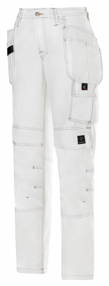 Snickers 3775 Women's Painter's Holster Pocket Trousers (White / White)